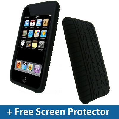 Black Tyre Skin Case for iPod Touch 2nd 3rd Gen 2G 3G iTouch Silicone Cover