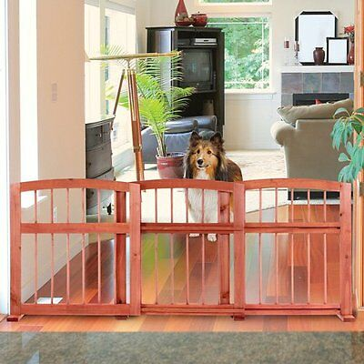 NEW Wooden Expanding Sliding Pet Gate