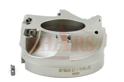 """Stop Throwing Away Used APKT 1604 4"""" 75° Indexable Face Mill New $262.05 Off"""