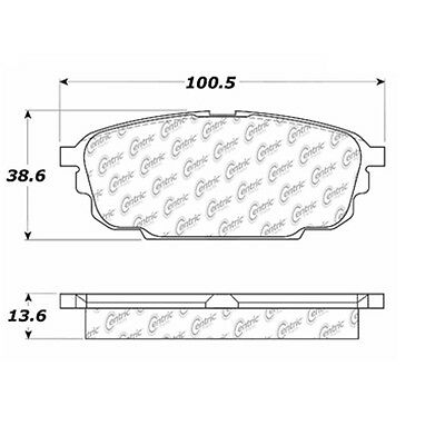 Disc Brake Pad-Posi-Quiet Extended Wear w/Shims and Hrdwr Rear fits Protege
