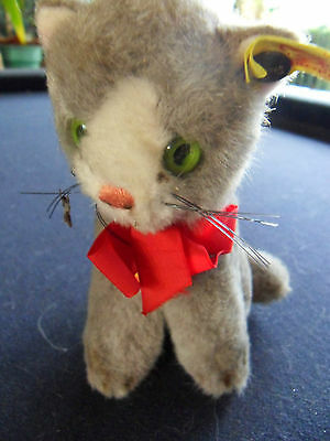 Steiff cat, Susi, miniature, w. all IDs, old,made in W.Germany 409