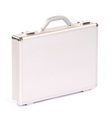 silver aluminium executive business laptop brief flight case briefcase box bag s