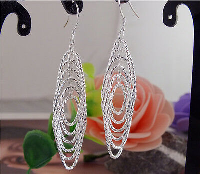 New Arrival! 925 Sterling Silver Amazing Unqiue Dangle Pireced Earrings