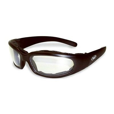 Clear MOTORCYCLE RIDING GLASSES Night PADDED SUNGLASSES GLOBAL VISION SIZE SMALL
