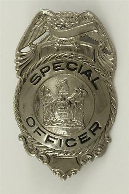 Vintage Obsolete Metal NYC New York SPECIAL OFFICER SIlver Tone Badge Device