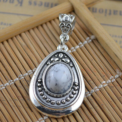 New Classical Natural hot Turquoise cute tibet silver Pendant    *&*xL1100