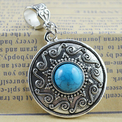 New Classical Natural hot Turquoise cute tibet silver Pendant    *&*xL1114