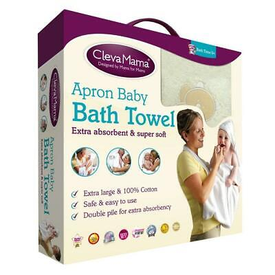 Clevamama Splash & Wrap Baby Bath Towel (Cream)