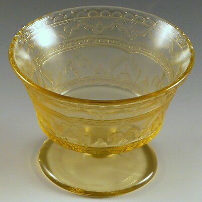 Patrician Spoke Amber Depression Glass Footed Sherbet Pedestal Federal Glassware