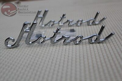 Custom Classic Vintage Car Truck Hotrod Script Fender Quarter Panel Emblems