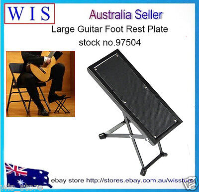 4-Positions Adjustable Folding Metal Guitar Foot Rest,Guitar Foot Stool-97504