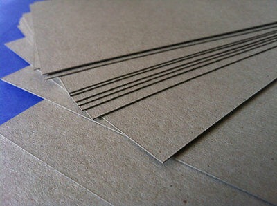 """CHIPBOARD 0.050"""" EXTRA THICK!! RIGID 8.5 x 11"""" sheets 20,40,50,60,80 or 100 pcs."""