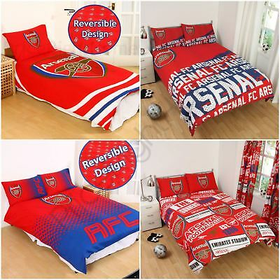 Arsenal Fc Single And Double Duvet Cover Sets Bedroom Bedding Free P+P