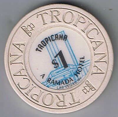 Tropicana A Ramada Hotel $1.00 House Mold With Fountain Casino Chip Las Vegas Nv