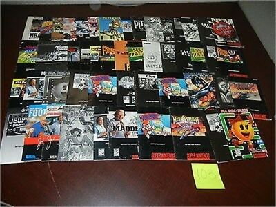 ***50 Snes Super Nintendo Manuals Booklets Lot~~~
