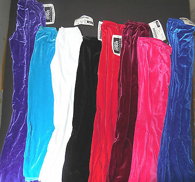 NWT VELVET LYCRA Bootcut Jazz Pants Dance Drill Pageant Costume ch/adult MIdrise