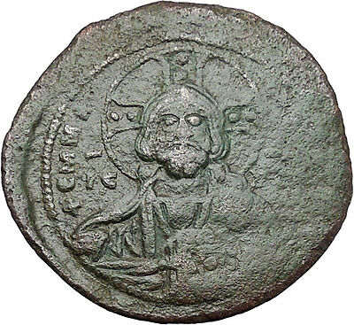 JESUS CHRIST Class A2 Anonymous Ancient 1028AD Byzantine Follis Coin i46764