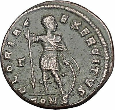 CONSTANTINE I the GREAT with Spear and Shield 327AD Ancient Roman Coin i46730