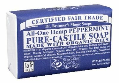 Dr. Bronner's Magic Soaps Hemp Peppermint Pure Castile Soap Bar