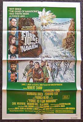 Force 10 From Navarone 1978 Original 1 Sheet Movie Poster Harrison Ford