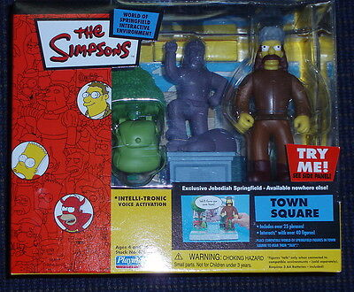 Simpsons WOS Town Square Jebediah Springfield RARE NEW SEALED