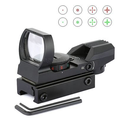 Holographic 4 Reticle Reflex Red Green Dot Sight Rifle Scope w/ 20mm Rail Mount