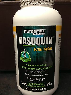 Nutramax Dasuquin with MSM for Large Dogs - 250ct  ChewTab Joint Sup. Liver flav