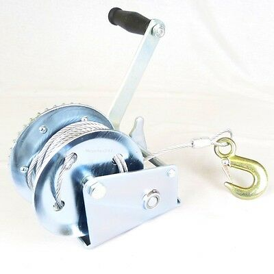 Hyfive - Hand Winch - Car And Boat Trailer Pulling Tool - 1200Lbs - 8M