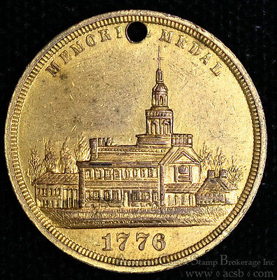 Memorial Medal Struck Within The International Exhibition 1876 Lustrous.