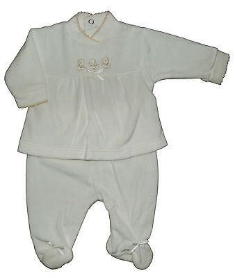 Baby Two Piece Velour Outfit Traditional Style Newborn to 3-6 Months