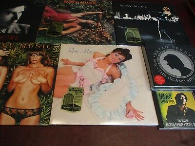 Roxy Music 180 Gram Audiophile  4 Capitol Records Lps + Bryan Ferry Lp + 45 + Cd