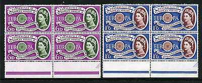 1960 6d-1/6 EUROPA SET U/MINT BLOCKS OF FOUR SG 621-2