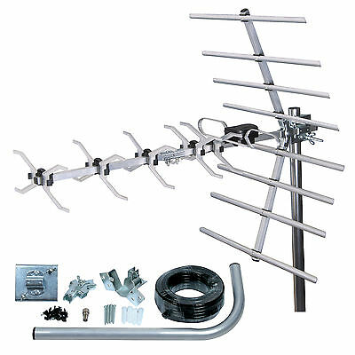 Digital TV Aerial kit 32 Element HD Freeview outdoor/loft ariel arial antenna 4G