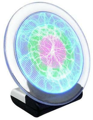 """Rainbow Lumin Disk 6"""" Plasma Plate Light Show LuminDisk Responds to Touch by CYI"""