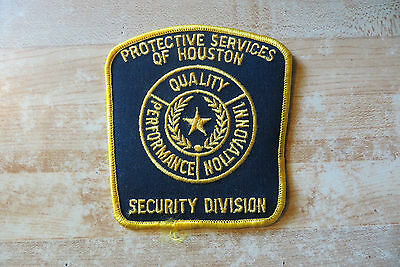 protective services of Houston TX security division,quality perfomance patch old