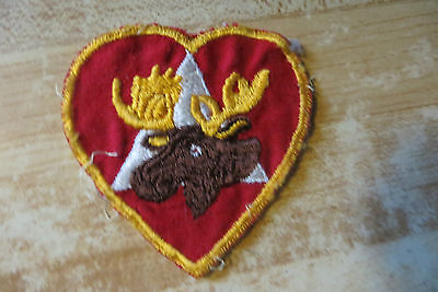 Fraternal organization of the royal moose,vintage original collectable patch old