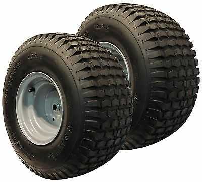 "2) 20x8.00-8 Mower Garden Tractor TIRE RIM WHEEL Assembly Turf Rider 3/4"" ID P28"