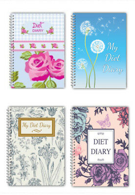 A5 Food Diary Weight Loss Planner Journal Diet Slimming Tracker/ Diet Diary/rose