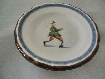 Small Delft Handpainted Collector Plate Signed Aurora Workum