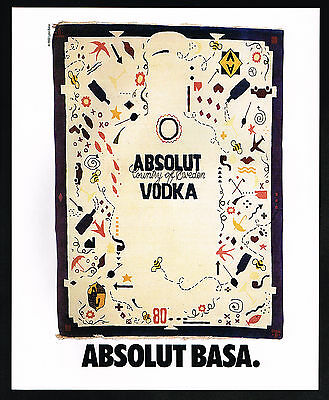 1991 Absolut Vodka Lynn Basa Art Vintage Magazine Print Ad