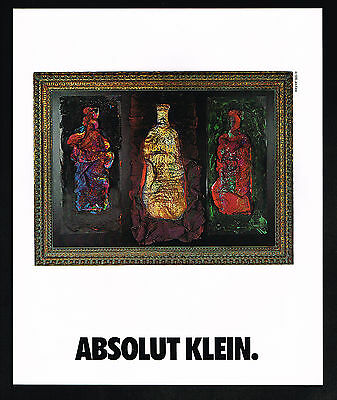 1991 Absolut Vodka 3 Bottles Jim Klein Art Magazine Print Ad