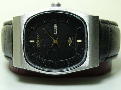 VINTAGE CITIZEN AUTOMATIC DAY DATE MENS WRIST WATCH OLD USED ANTIQUE G573