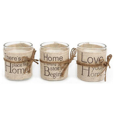 Candle In Glass Pot Quote Message Gift Retro Tea Light Wax Home Tealight Mood