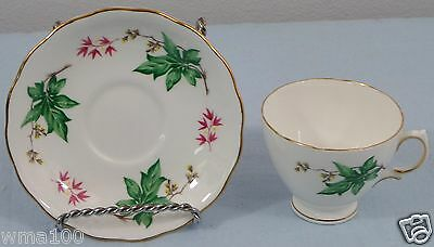 Royal Vale Pattern # 7350 Made in England Bone China Tea Cup & Saucer PRETTY!
