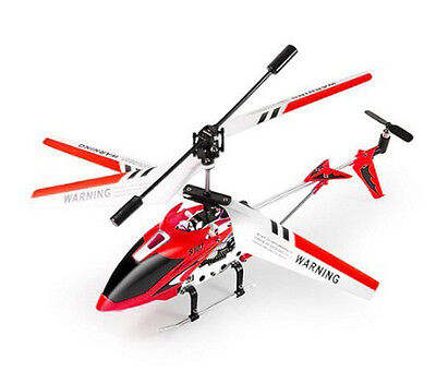 Syma S107G Rtf New 3 Channel Mini Metal Rc Remote Control Helicopter Gyro Red