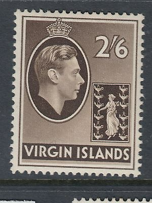 BRITISH VIRGIN ISLANDS :1938 2/6d sepia on chalky paper SG 118 mint