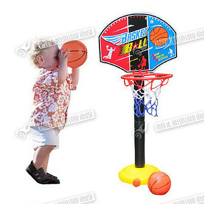 Portable Basketball Toy Set with Stand & Ball & Pump Kids Toddler Baby Sports