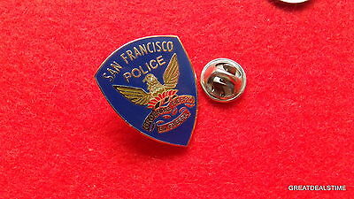 SAN FRANCISCO Police Dept Badge Patch,Officer Mini Metal LAPEL PIN,CA Eagle Logo