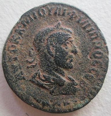 Ancient Roman Bronze Coin Antioch Philip Ii Archaeology