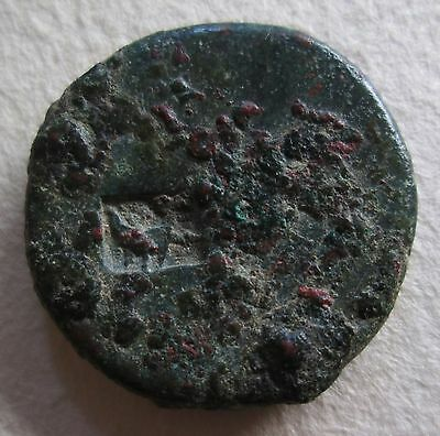 Roman Bronze Coin With Boat Countermark 10Th Legion Counter Mark Archaeology